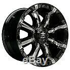 19x9.5 Centerline 670B SM1 Rev 7 Satin Black Wheels 5x4.5 (33mm) Set of 4