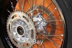 2008 05-19 DRZ400SM SUPERMOTO Front Rear Wheel Set Hub Rim Spokes Rotor 17