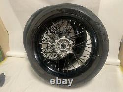 2008 suzuki drz400sm Wheel Tires Rim Front Back Set Excel Wrapped Spokes Pirelli