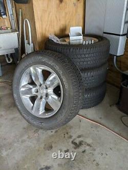 2018 RAM 1500, SET of 4, Factory Wheels and Tires, P275/60R20 /w Lug Nuts