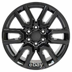 20 5914 Wheels, Tires, TPMS SET Fits Chevy & GMC AT4 Black 20x9