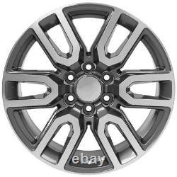 20 5914 Wheels, Tires, TPMS SET Fits Chevy & GMC AT4 Gunmetal Machined 20x9