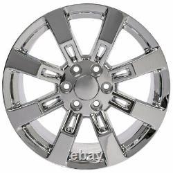 20 Chrome 5409 Wheels Goodyear-LS2 TPMS Lug SET Fit Escalade Yukon Tahoe