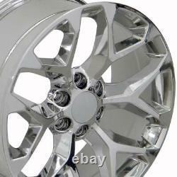 20 Chrome Snowflake Wheels Goodyear TPMS Lug SET Fit Chevy Silverado Sierra