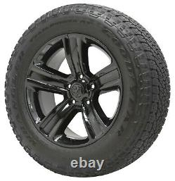 20 Dodge Ram 1500 Gloss Black Wheels Rims Tires Factory Oem Original Set 2453