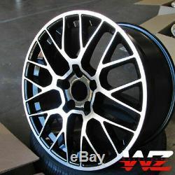 20 Inch Black Machined Wheels Fit Porsche Macan 20x9.0 / 20x10 5x112 Mesh Set 4