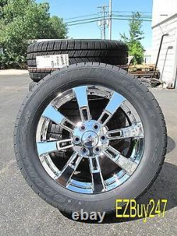 20 New Set Gmc Chevrolet Escalade Factory Chrome Wheels Goodyear Tires 5409