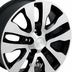20 Wheel Tire SET Fit Toyota Tundra Style Black Mach'd Rims GY Tires 69533
