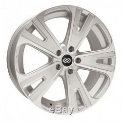20x8.5 Enkei SVX 5x114.3 +40 Silver Machined Wheels Rims Set(4)