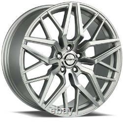 20x8.5 Shift H33 Spring 5x114.3 35 Silver Machine Wheels Rims Set(4) 73.1