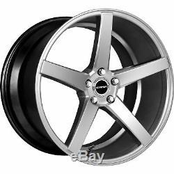 20x8.5 Strada S35 Perfetto 5x114.3 35 Silver Wheels Rims Set(4)