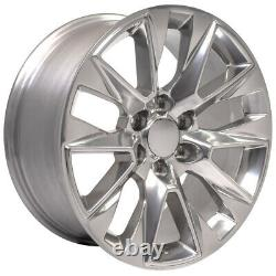 20x9 5920 Polished Wheel, BDA Tire, TPMS SET fit GMC Yukon 1500 LTZ Rims