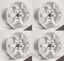 20x9.5 Enkei ST6 6x139.7 10 Silver Machined Wheels Rims Set(4)