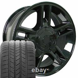 20x9 Black 3410 Wheels & Goodyear Tires SET Fit Ford F150 Harley style Rims