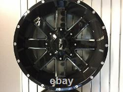 20x9 ION 141 35 AT Black Wheel and Tire Package Set 8x6.5 Chevy Silverado HD