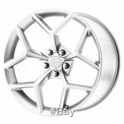 20x9 Silver Machine Wheels Strada Replica R126 Z28 Replica 5x115 15 (Set of 4)