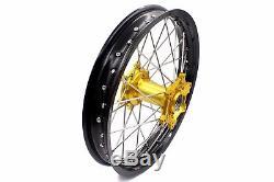 21/18 Complete Enduro Wheels Rims Set for Suzuki DRZ400 DRZ400S DRZ400E DRZ400SM