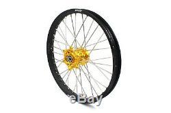 21/18 Enduro Wheel Set Fit Suzuki Drz Set Drz400sm 2005-2018 Cnc Gold Hub
