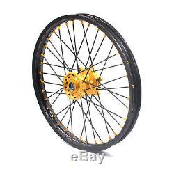 21/18 Enduro Wheels Rims Set For Suzuki Drz400e Drz400s Drz400sm 2000 Gold/black