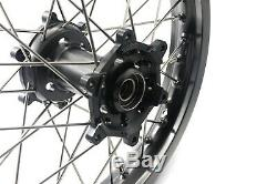 21/18 Enduro Wheels Set For Suzuki Drz400 2000-2004 400sm 2005-2019 Titanium Hub