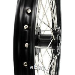 21/18 Enduro Wheels Set For Suzuki Drz 400 2000-2004 400sm 2005-2018 Black Hub