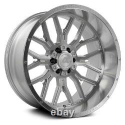 22x12 AXE CF AX6.1 5x5/5x5.5 -44 Silver Milled Wheels Rims Set(4) 87.1