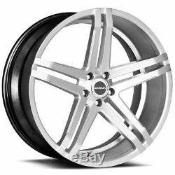 22x8.5 Strada S40 Domani 5x114.3 40 Silver Machine Wheels Rims Set(4)