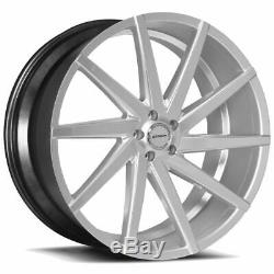 22x9 Strada S41 Sega 5x114.3 40 Silver Machine Wheels Rims Set(4)