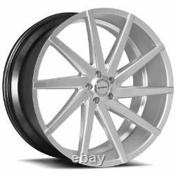 22x9 Strada S41 Sega 5x114.3 40 Silver Machine Wheels Rims Set(4) 72.6