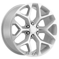 24x10 Silver Machine Wheels Strada Replica R176 Snowflake 6x5.5/6x139.7 31 Set