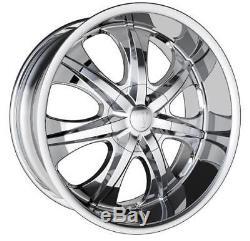 26 Velocity V725 Chrome Wheel Set (4) 26x10, 5x115 & 5120 Small Block Chevy