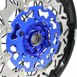 3.5/4.2517 Supermoto Wheelset Rims For Suzuki Drz400sm 2005-2019 Disc Blue/blak
