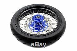3.5/4.2517 Tire Fit Suzuki Drz400s Drz400e Drz400sm Supermoto Wheels Rims Set