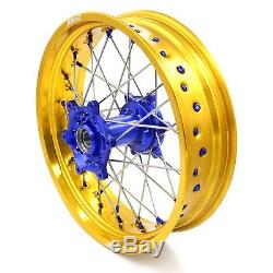 3.5/4.2517 Wheel Set Suzuki Drz400 00-04 Drz400e 400sm Drz400s 00-18 Gold Rim