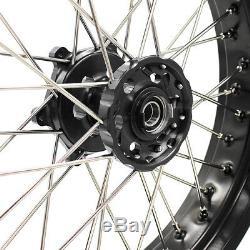 3.5/5.017 Supermoto Wheels Rims Set Fit Suzuki Drz400 Drz400e/s Drz400sm Black