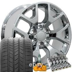 5656 Polished 20x9 Wheels & Goodyear Tires TPMS SET Fit Sierra Silverado Yukon