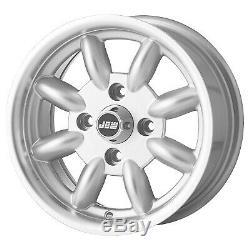 6x13 JBW Minilight Wheels 4 x 101.6 PCD Set of 4 Silver Hillman Imp