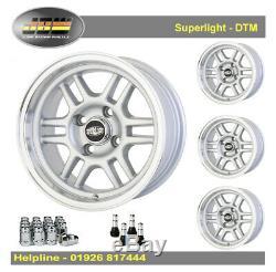 7x 13 Superlight DTM Wheels Classic Mini 1959-2001 Set of 4 Silver