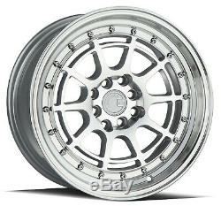 AODHAN AH04 16x8 4x100/114.3 ET15 Silver Machined Wheel (SET of 4)