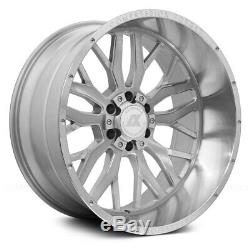 AXE AX1.1 Compression Forged Wheels 22x12 (-44, 6x139.7) Silver Rims Set of 4