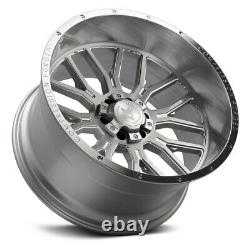 AXE AX6.1 COMPRESSION FORGED Wheels 24x12 (-44, 8x170) Silver Rims Set of 4