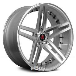 AXE EX20 Wheels 20x8.5 (38, 5x114.3, 73.1) Silver Rims Set of 4