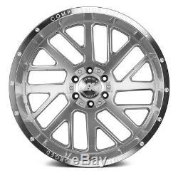 AXE Wheels 22x10 (-19, 8x165.1, 125.2) Silver Rims Set of 4