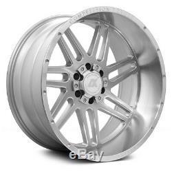 AXE Wheels 22x12 (-44, 6x139.7, 87.1) Silver Rims Set of 4