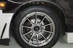 Advanti Racing STORM S1 Wheels 15x7 (+35, 4x100, 73.1) Graphite Rims Set of 4