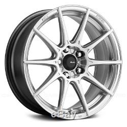 Advanti Racing STORM S1 Wheels 17x8 (35, 4x100, 73.1) Silver Rims Set of 4