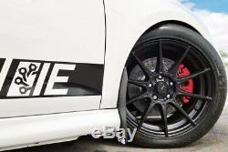 Advanti Racing STORM S1 Wheels 17x8 (45, 5x100, 73.1) Black Rims Set of 4