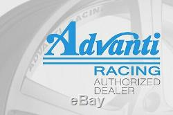 Advanti Racing STORM S1 Wheels 17x9 (35, 5x112, 66.6) Black Rims Set of 4