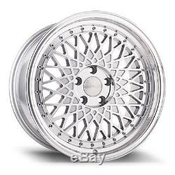Avant Garde M220 18x8 5x114.3 +35 Silver Machined Wheels (Set of4)