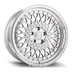 Avant Garde M220 18x9 5x100 +30 Silver Machined Wheels (Set of4)